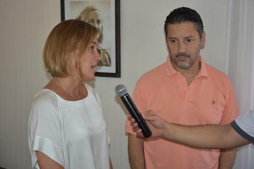 Gesto entre Vidal y Menéndez: La Fundación Banco Provincia visitó Merlo