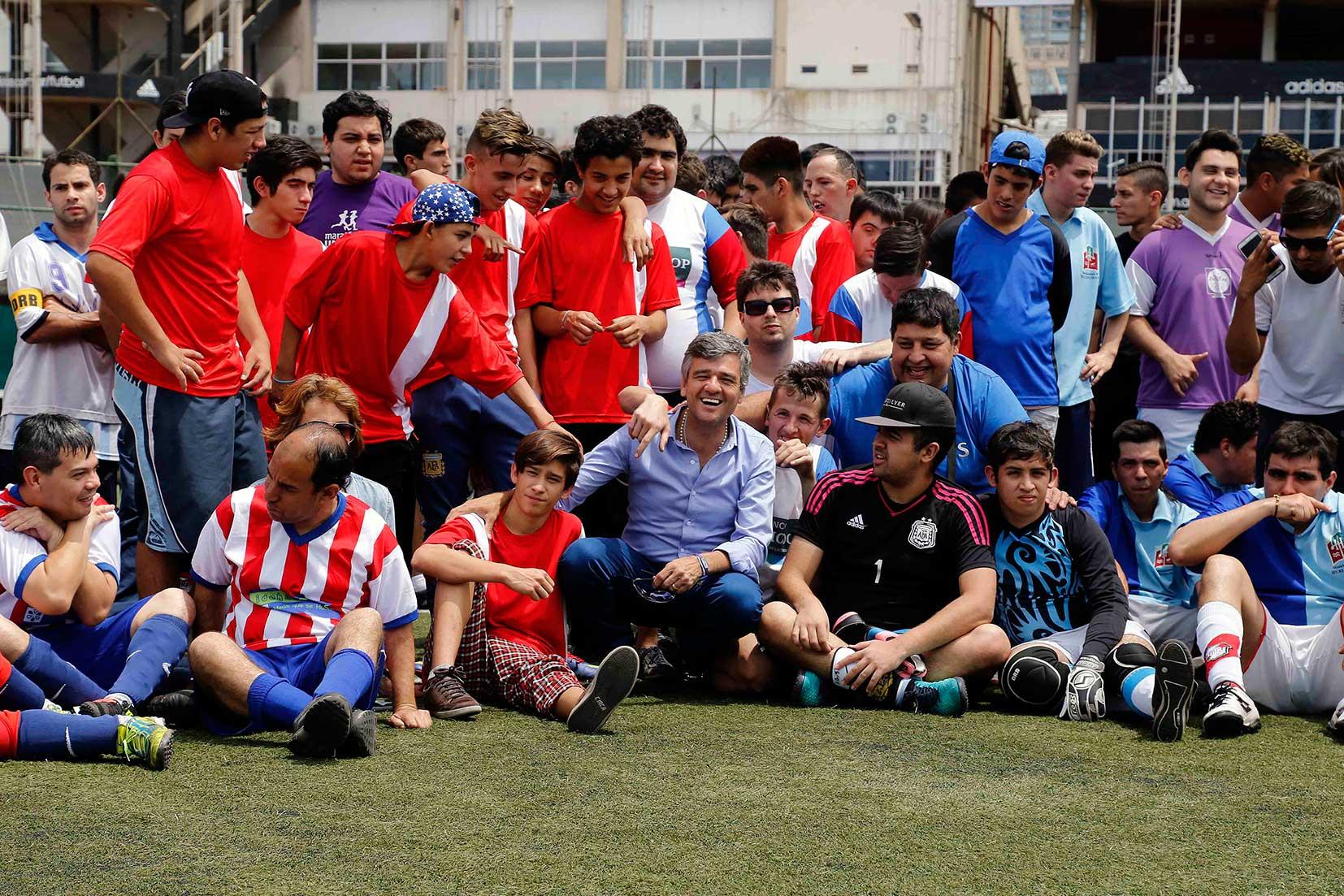 Zabaleta participó en River Plate de un programa de inclusión