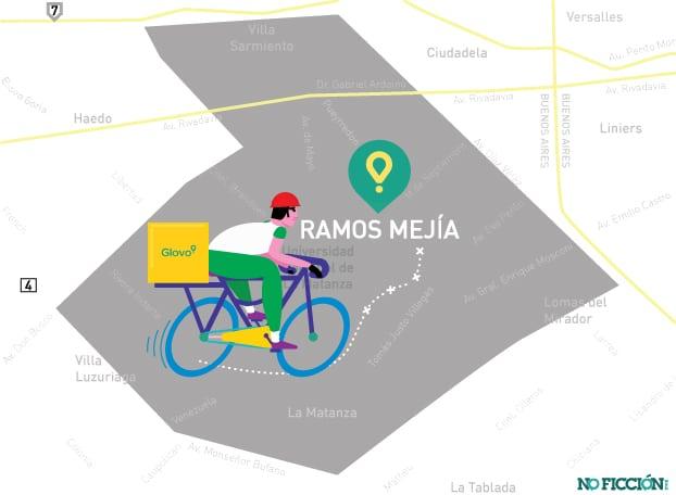 Apps y trabajo precarizado: Glovo llega a Ramos Mejía y hace pie para expandirse en el oeste