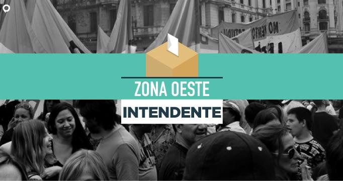 Mapa interactivo ELECCIONES 2019: así quedaron los resultados a Intendentes en el Oeste