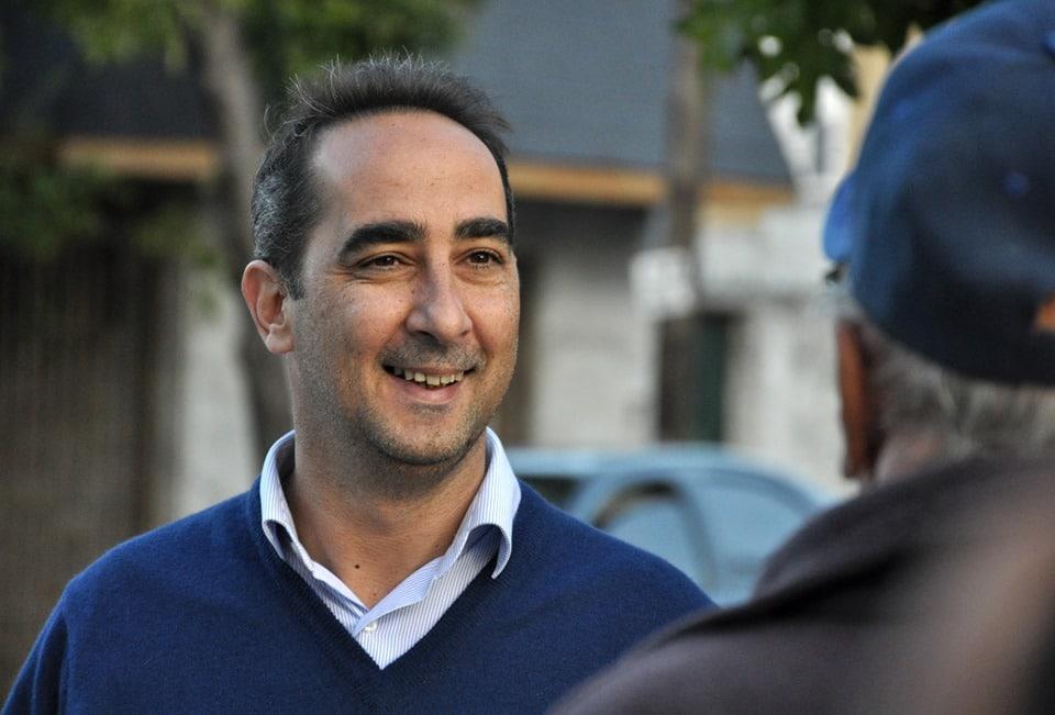 Ramiro Tagliaferro y un vecino
