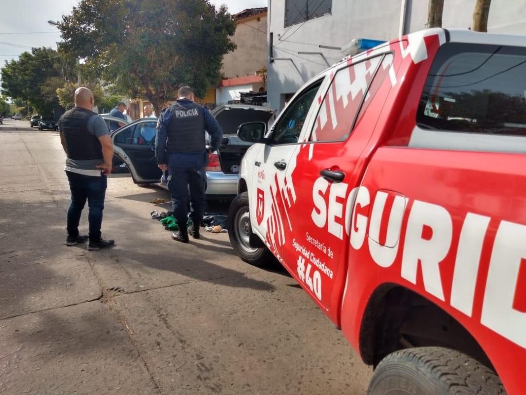 Operativo policial y municipal montado para detener al candidato a concejal del Frente de Todos, Marcelo Notario.