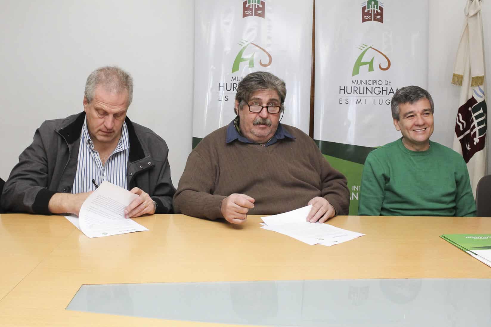 Zabaleta y Perczyk y Pignanelli firman un acuerdo para construir un centro de capacitación en Hurlingham