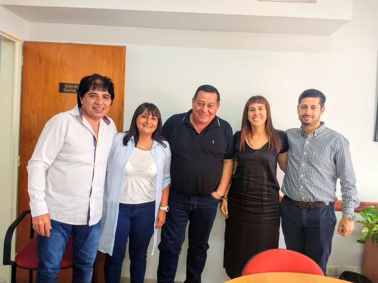 Reunión entre Jorge D´Andrea, Luis Duré y los concejales de Juntos por el Cambio Juan NArdo, Natalín Faravelli y Alejandra Liquitay