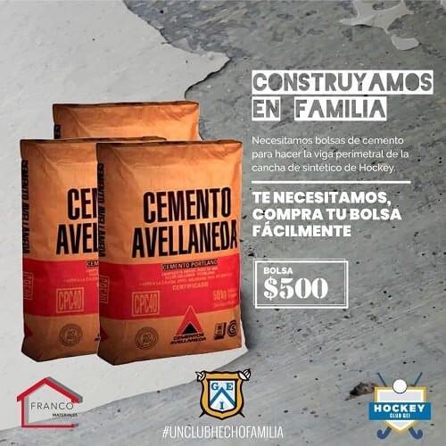 Club GEI pide bolsas de cemento para cumplir el sueño de la cancha propia