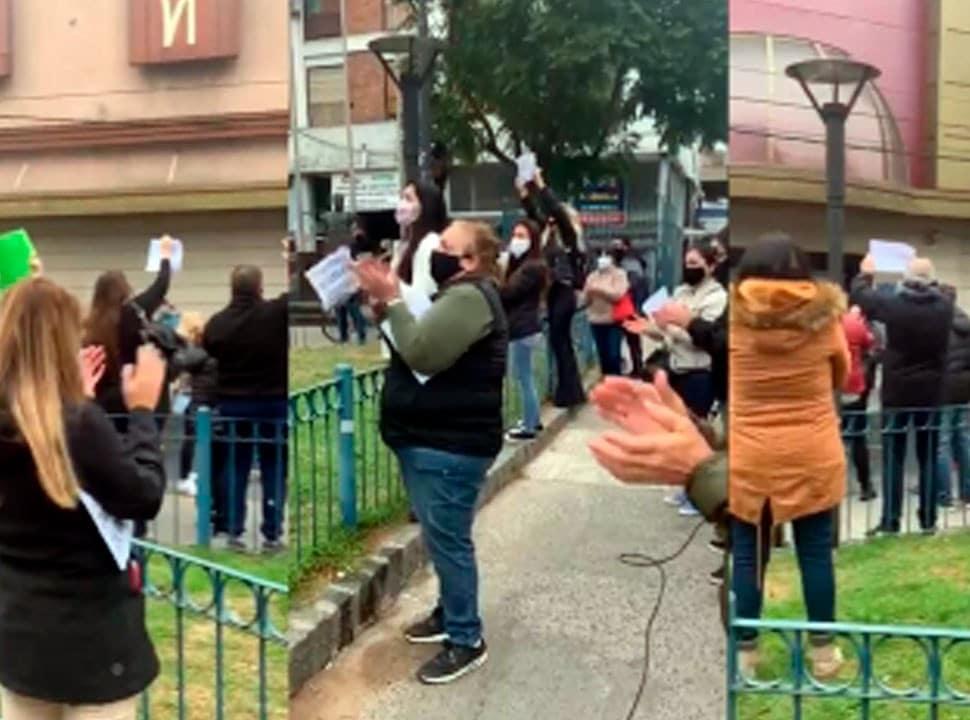 Comerciantes de Ramos Mejía reclaman en la calle volver a trabajar con protocolos