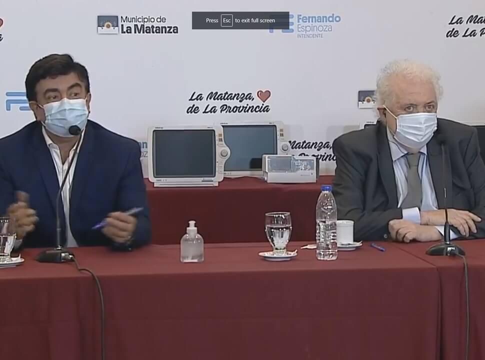 La enigmática frase del ministro de Salud en La Matanza: ¿el país producirá la vacuna contra el Covid?