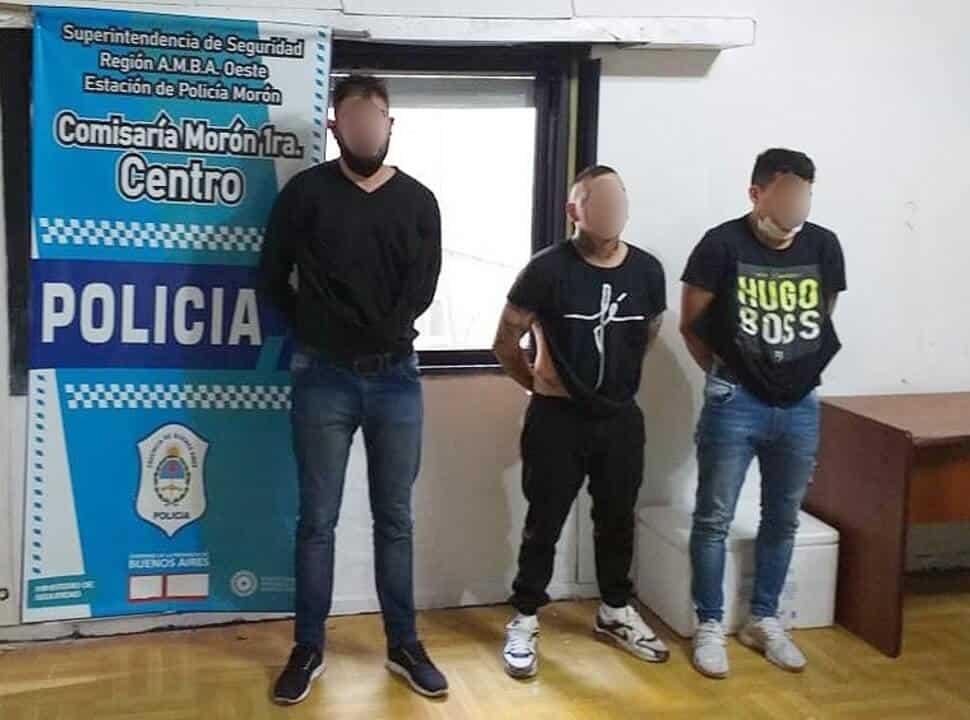 Detienen a tres delincuentes tras una salidera en Morón: habían robado una mochila con 146.000 pesos