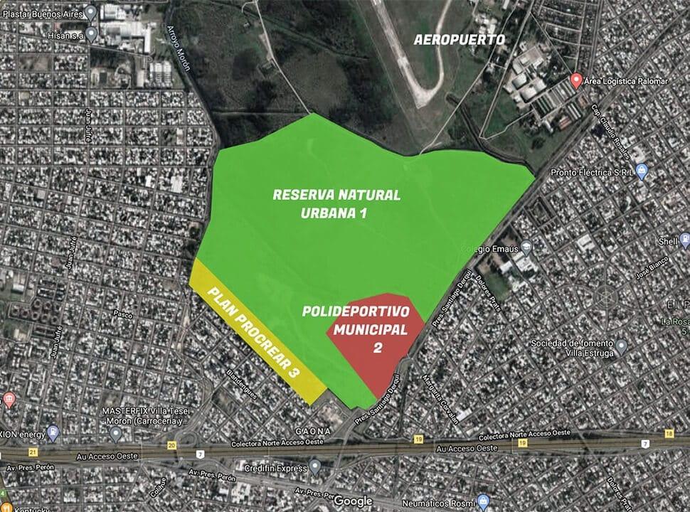 El plan para crear una reserva urbana y viviendas de crédito blando en El Palomar