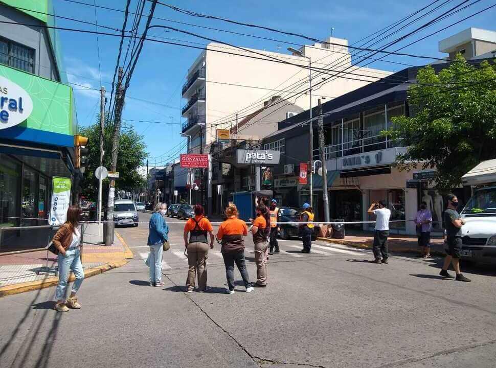 Operativo en Castelar por amenaza de bomba en un banco