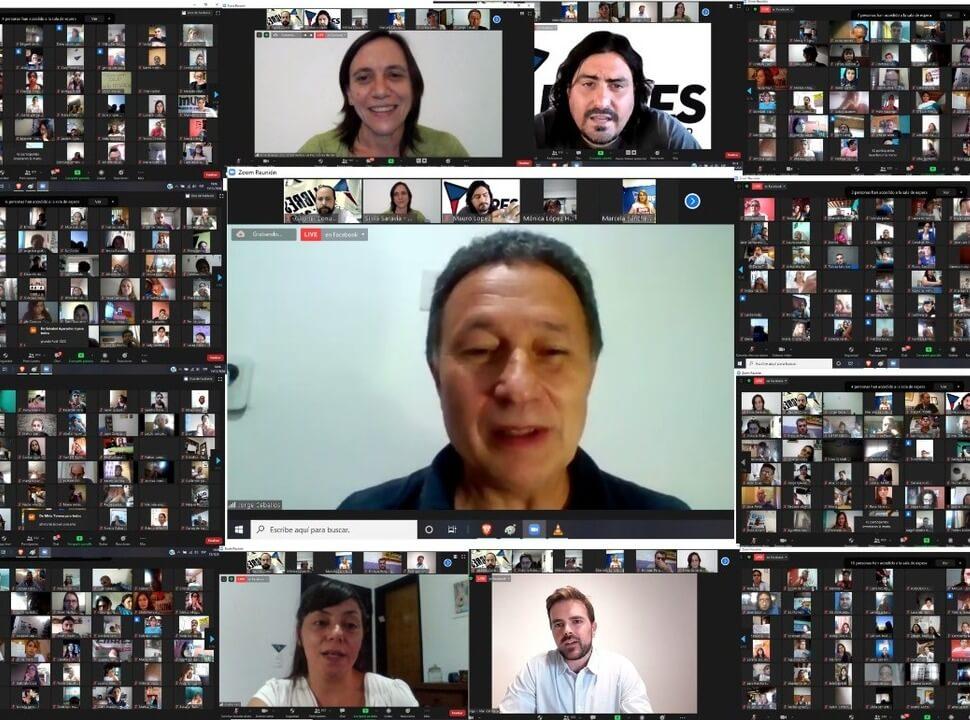 Multitudinario encuentro virtual del Movimiento Libres del Sur en la provincia de Buenos Aires