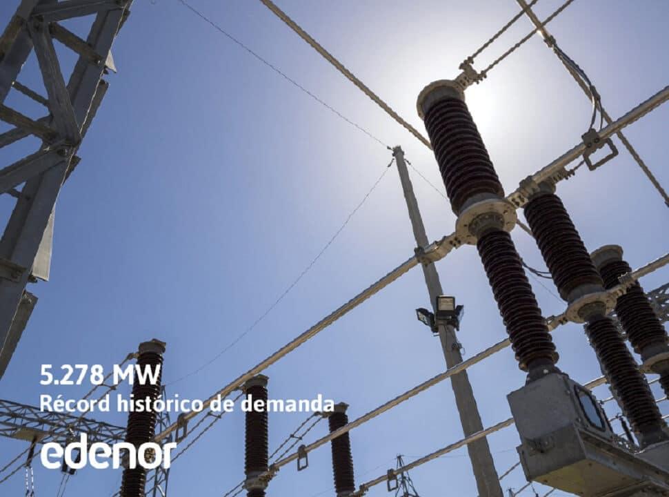 Récord de demanda de energía por la ola de calor
