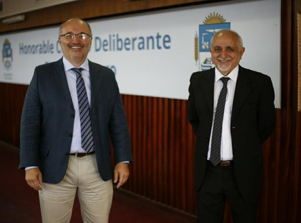"""Berns es el nuevo presidente del HCD de Tres de Febrero: """"es una persona conciliadora y de diálogo"""", dijo Valenzuela"""