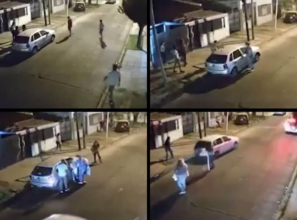 VIDEO | Una jubilada quedó en medio de un violento asalto en Isidro Casanova