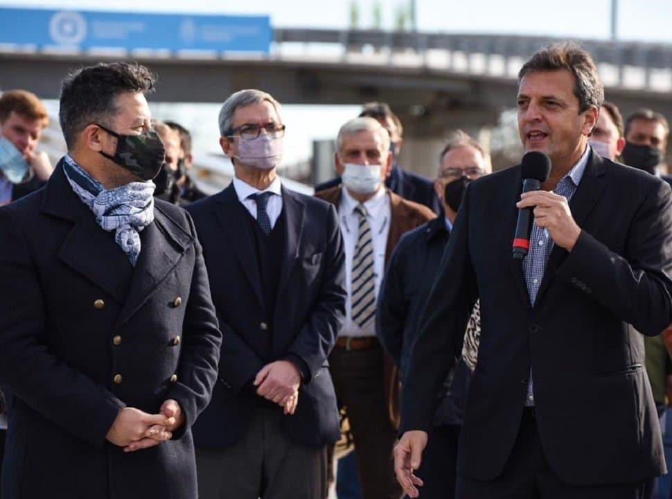 En Merlo, se inauguró el primero de los 13 puentes modulares del tren Sarmiento