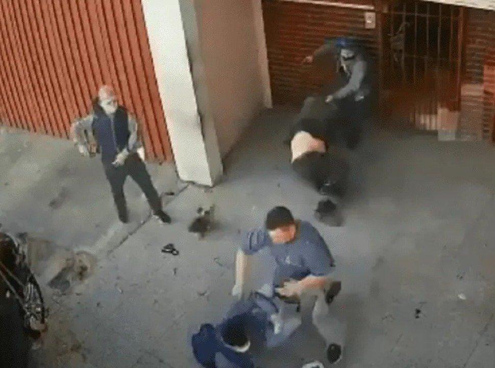 VIDEO | San Justo: un empresario se resistió a las piñas de un asalto, le gatillaron y la bala no salió